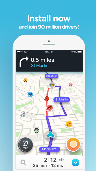 Screenshot for Waze Navigation & Live Traffic in India App Store