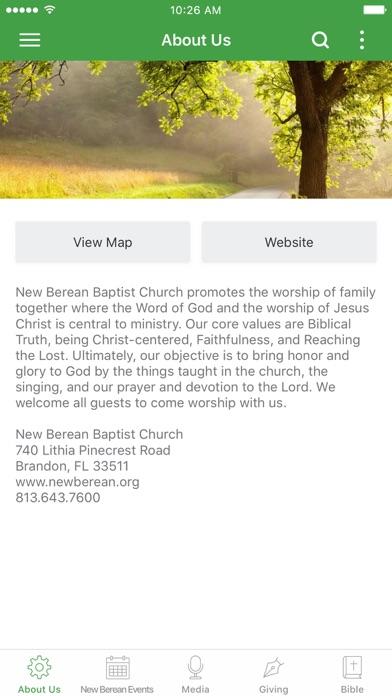 New Berean Baptist Church screenshot one