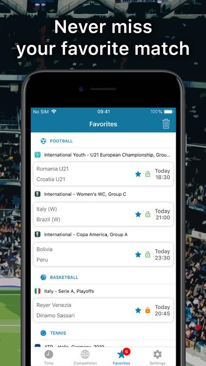 SportEventz - Live sport on TV screenshot-5