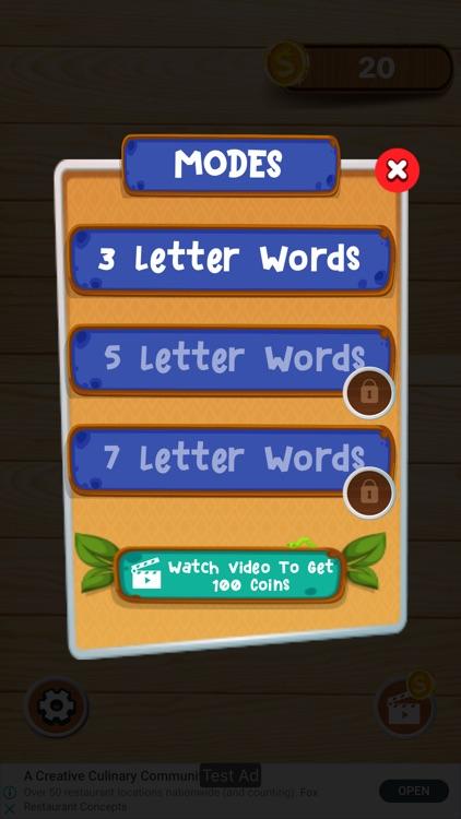 Word Finder Brain Puzzle