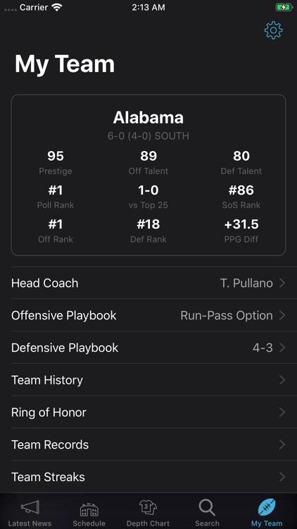 College Football Coach screenshot-5