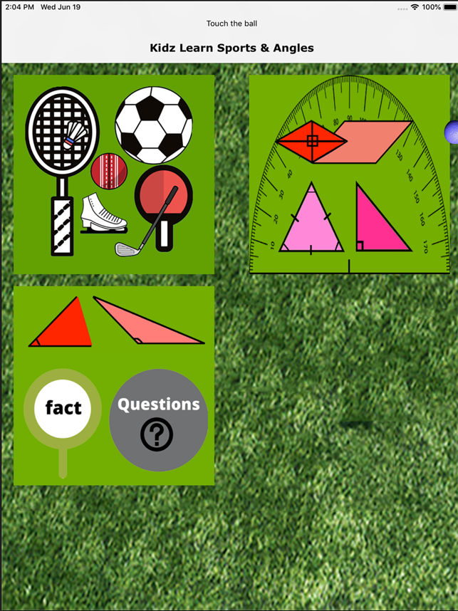 ‎Kidz Learn Sports and Angles Screenshot