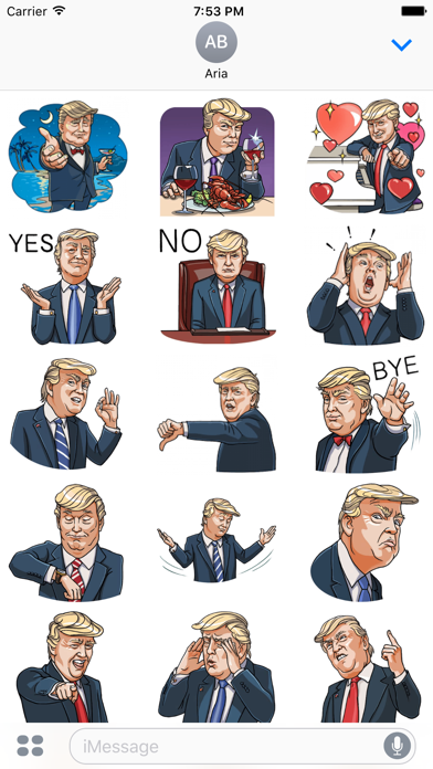 Funny Donald Trump Emoji screenshot 1