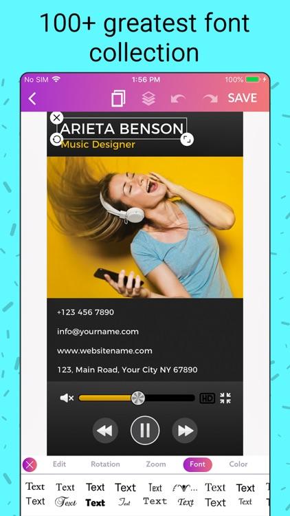 Business Card Maker, Make Card screenshot-8