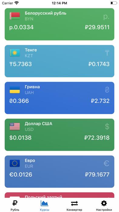 Рубль – Курсы валют онлайнСкриншоты 3
