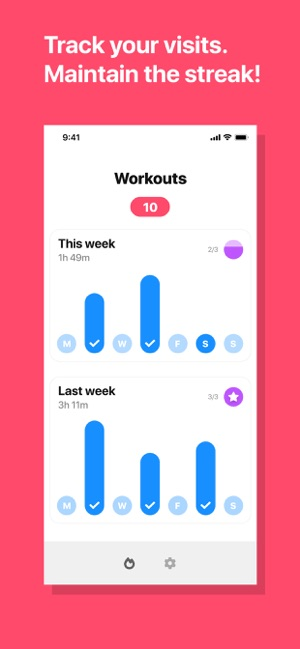‎Hit The Gym - Workout Schedule Screenshot