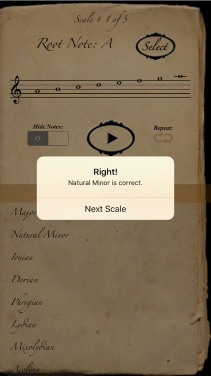 Scales & Modes: The Quiz screenshot-3