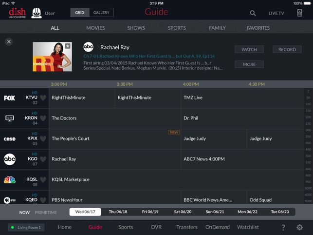 DISH Anywhere for iPad on the App Store