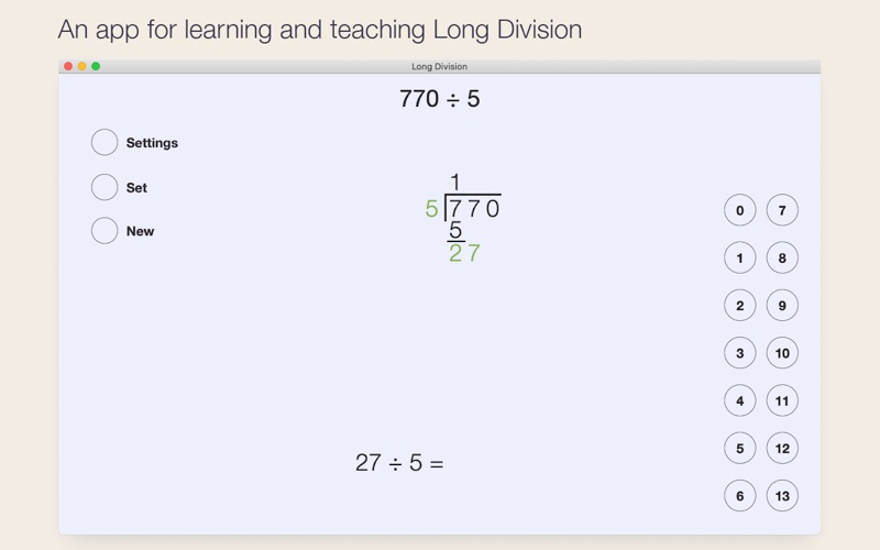 Long Division for Mac