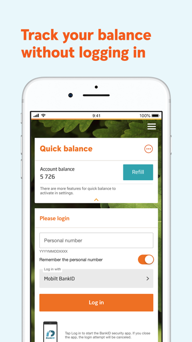 Screenshot for Swedbank private in Kazakhstan App Store