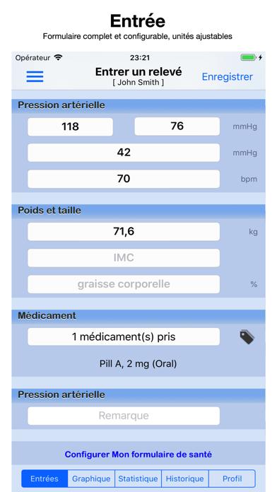Screenshot #1 pour Pression Artérielle Suivi