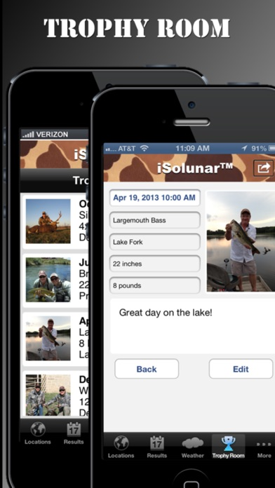 Screenshot for Fishing Times by iSolunar in United States App Store