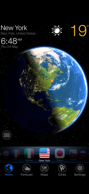 3D Earth - mega weather widget Screenshot