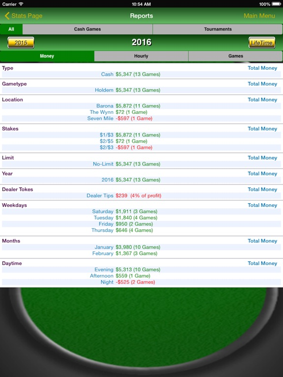 Poker Track Pro – Game Tracker Screenshots