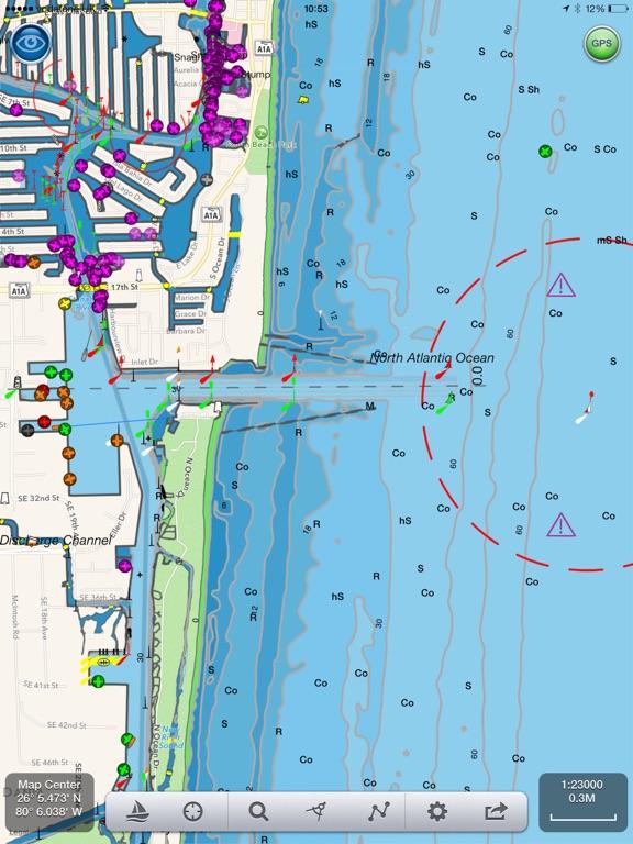 SeaNav - HD Nautical Charts and Marine Navigation screenshot