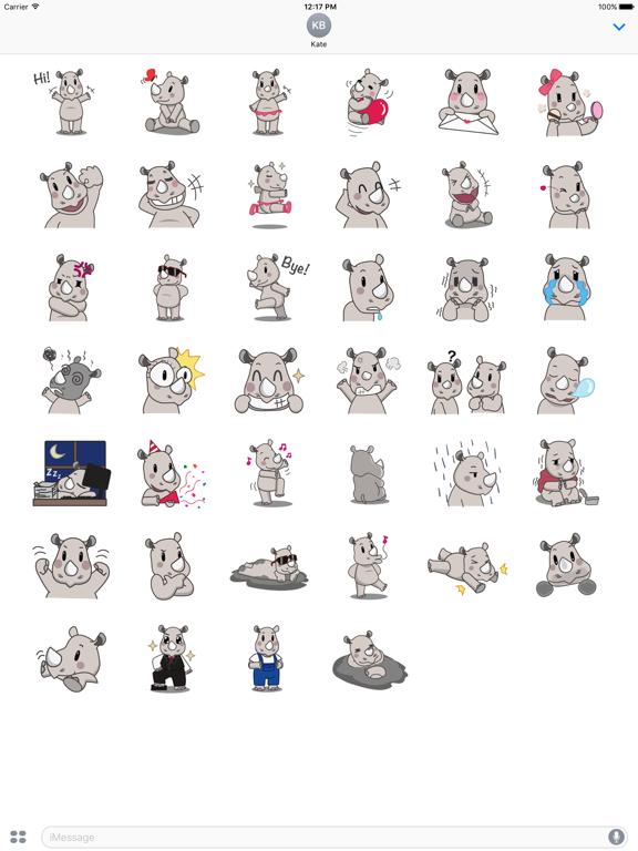 Cute Rhino RhinoMoji Sticker screenshot 6