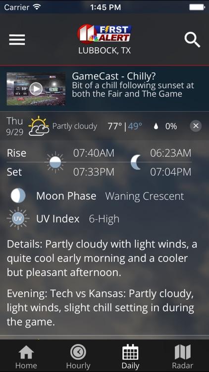 KCBD First Alert Weather screenshot-3