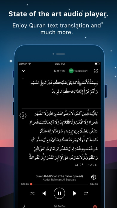 Screenshot for Quran Pro Muslim القرآن الكريم in Belgium App Store