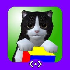 Activities of AR Kitten for Merge Cube