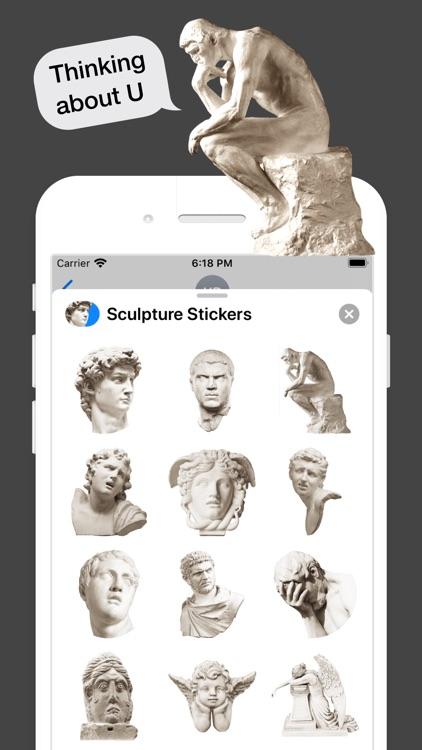 Sculpture Stickers screenshot-3