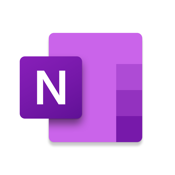 Microsoft OneNote – lists, photos, and notes, organized in a notebook icon