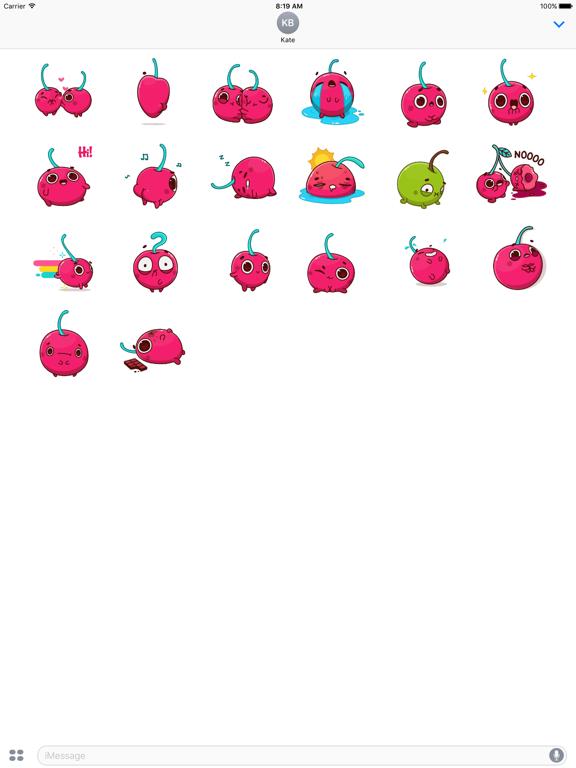 Animated Hot Cherry Sticker screenshot 5