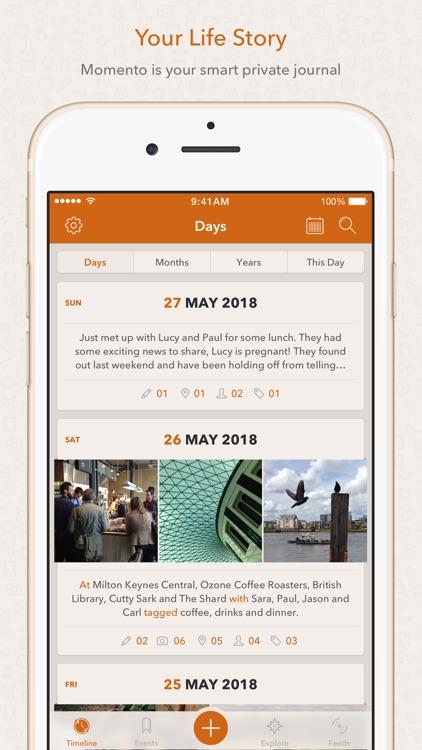 Momento - Diary / Journal screenshot-0