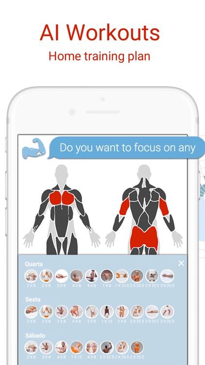 BodBot Gym & Home Workout Plan screenshot-0