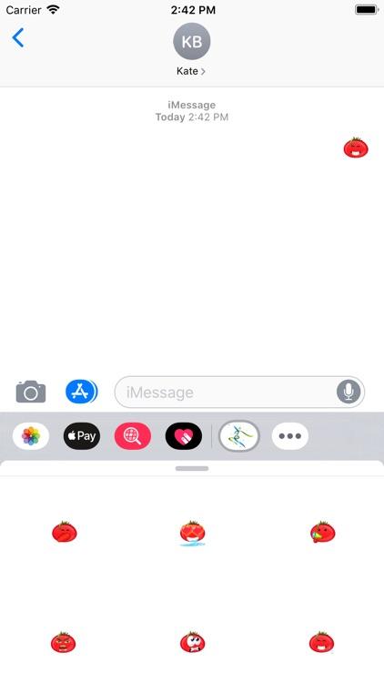 可爱番茄贴纸-816vip screenshot-4