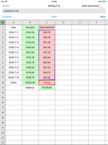 Screenshot of Utility Spreadsheet Pro