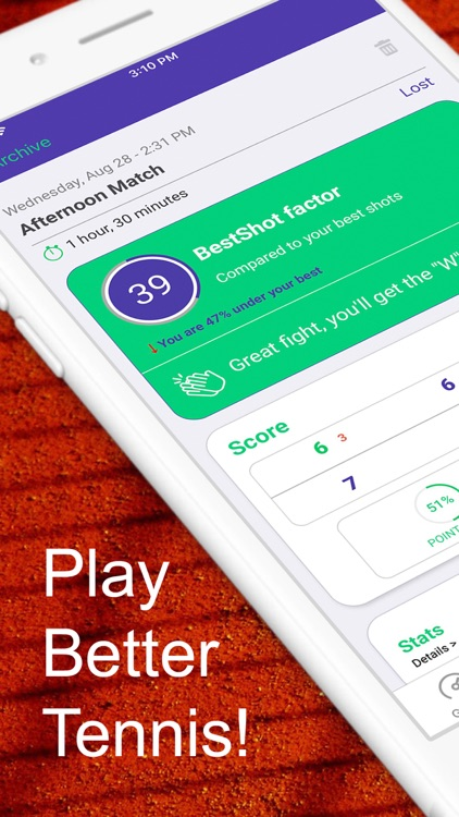 Best Shot Tennis Tracker
