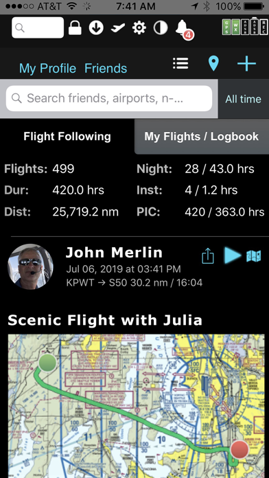 FlyQ EFB Screenshot