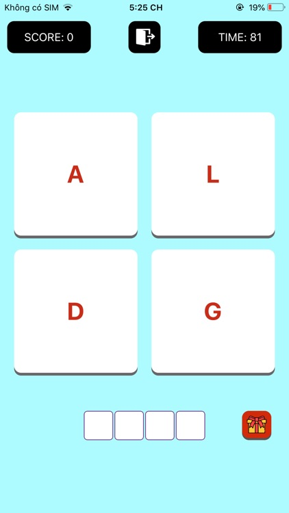 4 Letters Word Puzzle screenshot-4