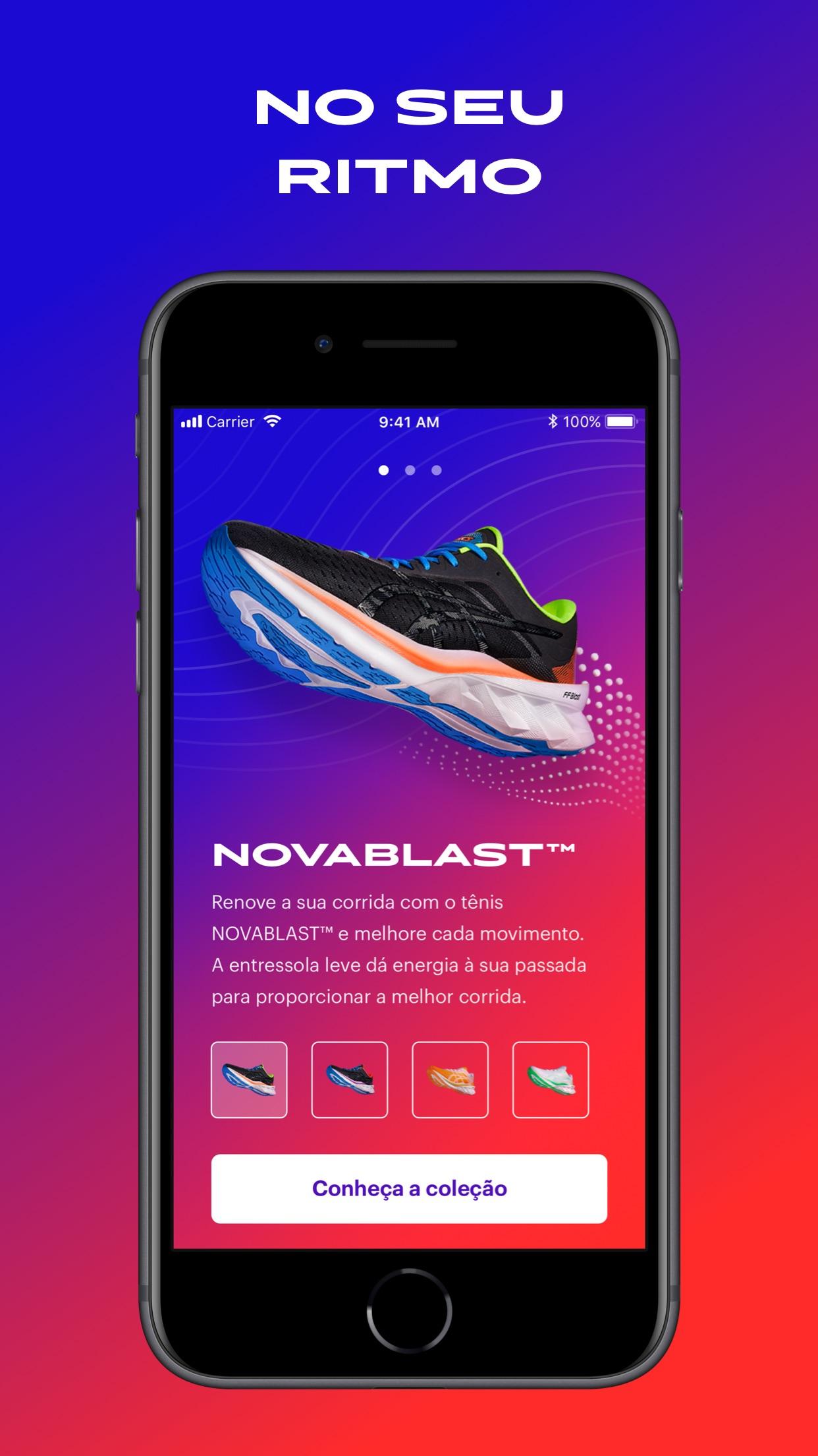 Screenshot do app ASICS Run Mixer