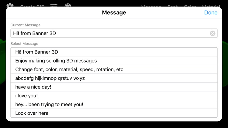 Banner 3D - scrolling text app screenshot-6
