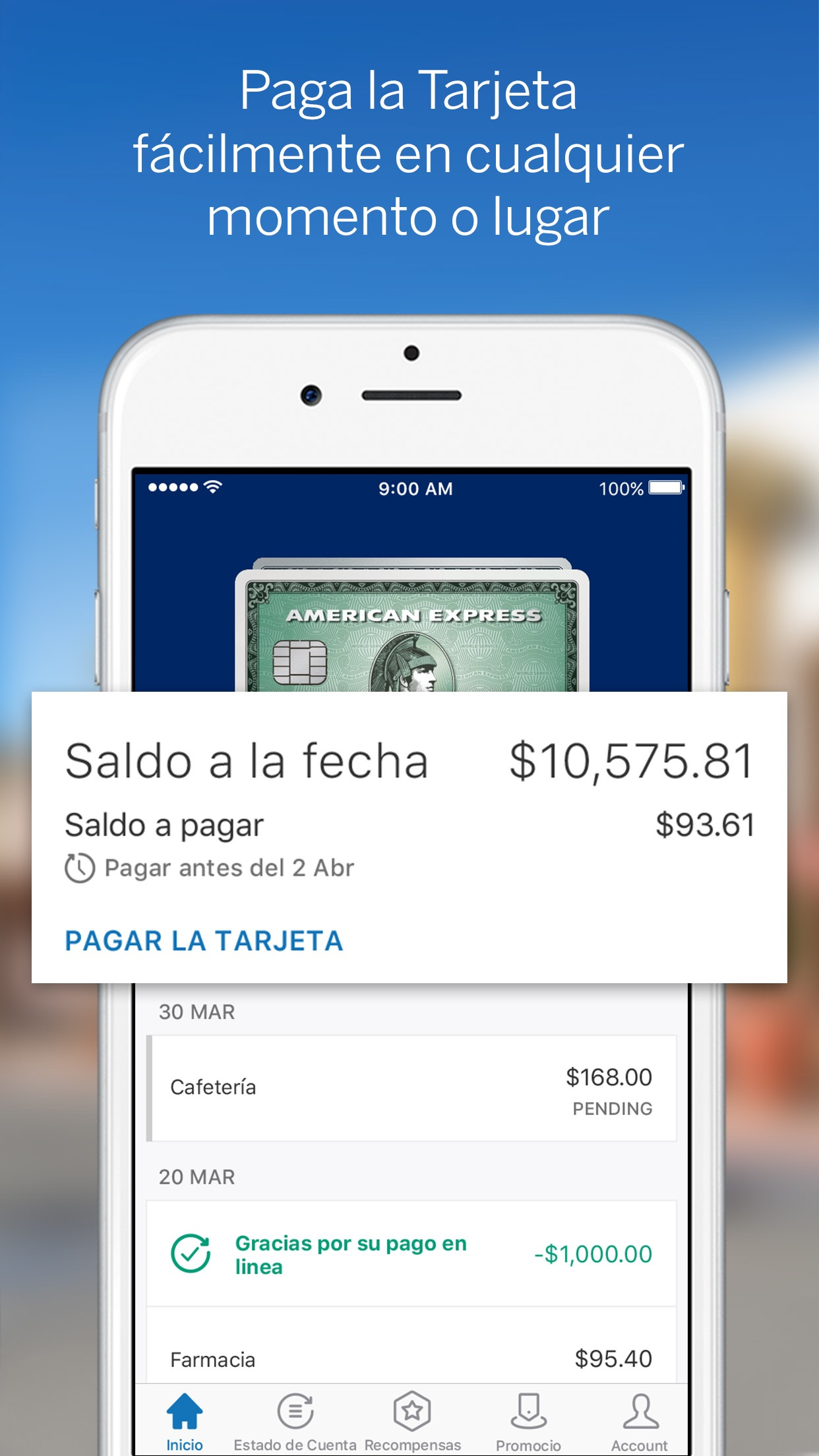 Amex México Screenshot