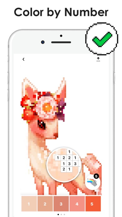 Pixel Color by Number Game Screenshot