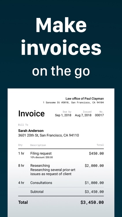 Invoice Maker -Simple Invoices screenshot-0