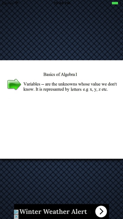 Basics Of Algebra 1 screenshot-3