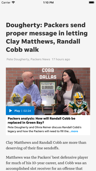 Packers News Screenshot