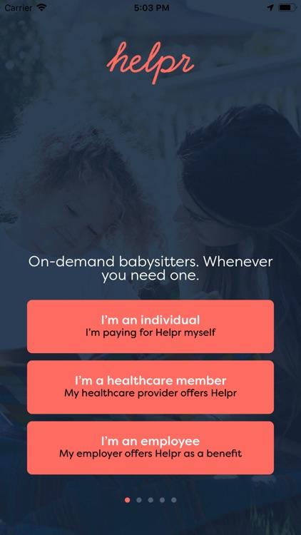 Helpr - On-Demand Childcare