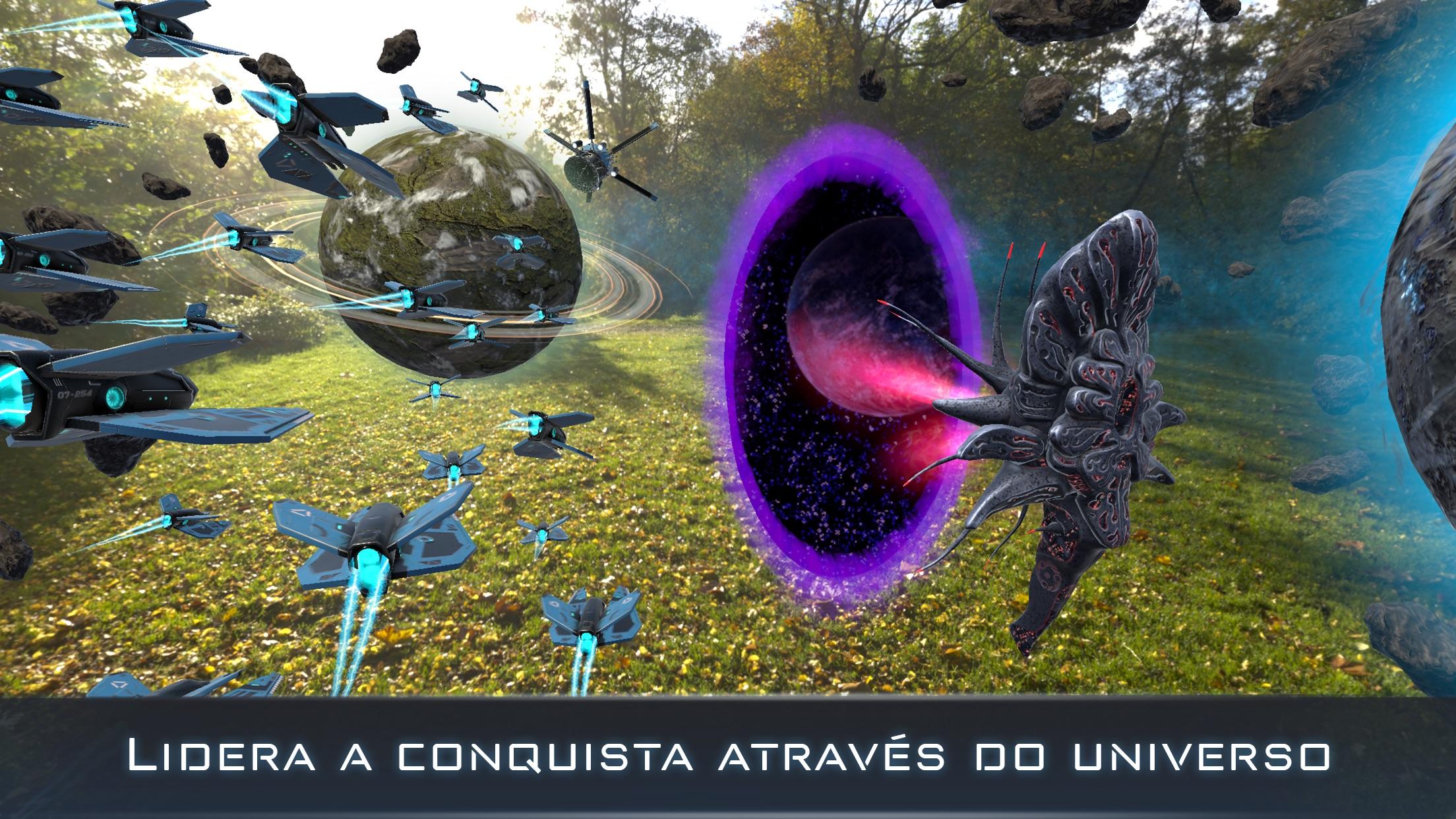 Screenshot do app Cosmic Frontline AR