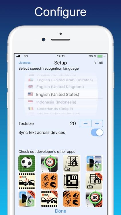 Dictate - Speech to text screenshot-4