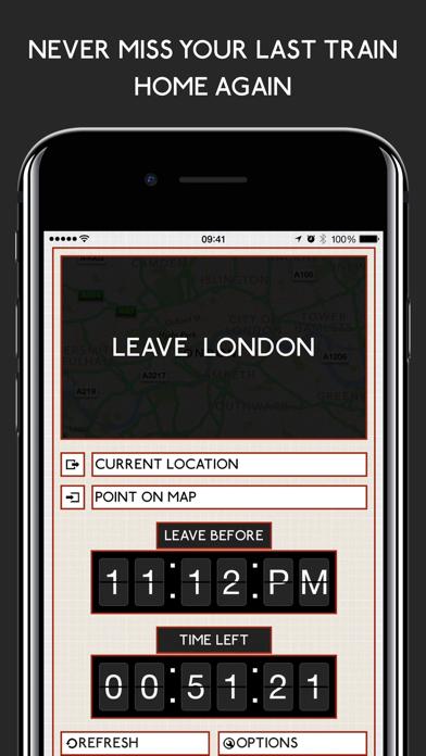 Leave London: Tube Train Times