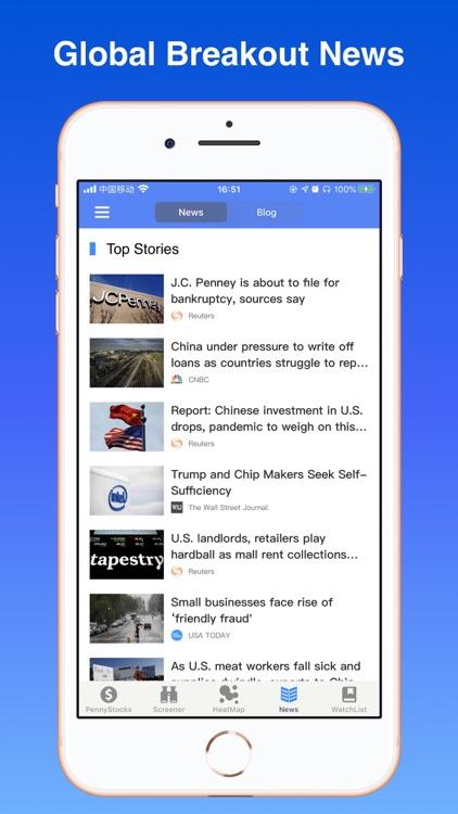 Penny Stocks - screener & map screenshot-5