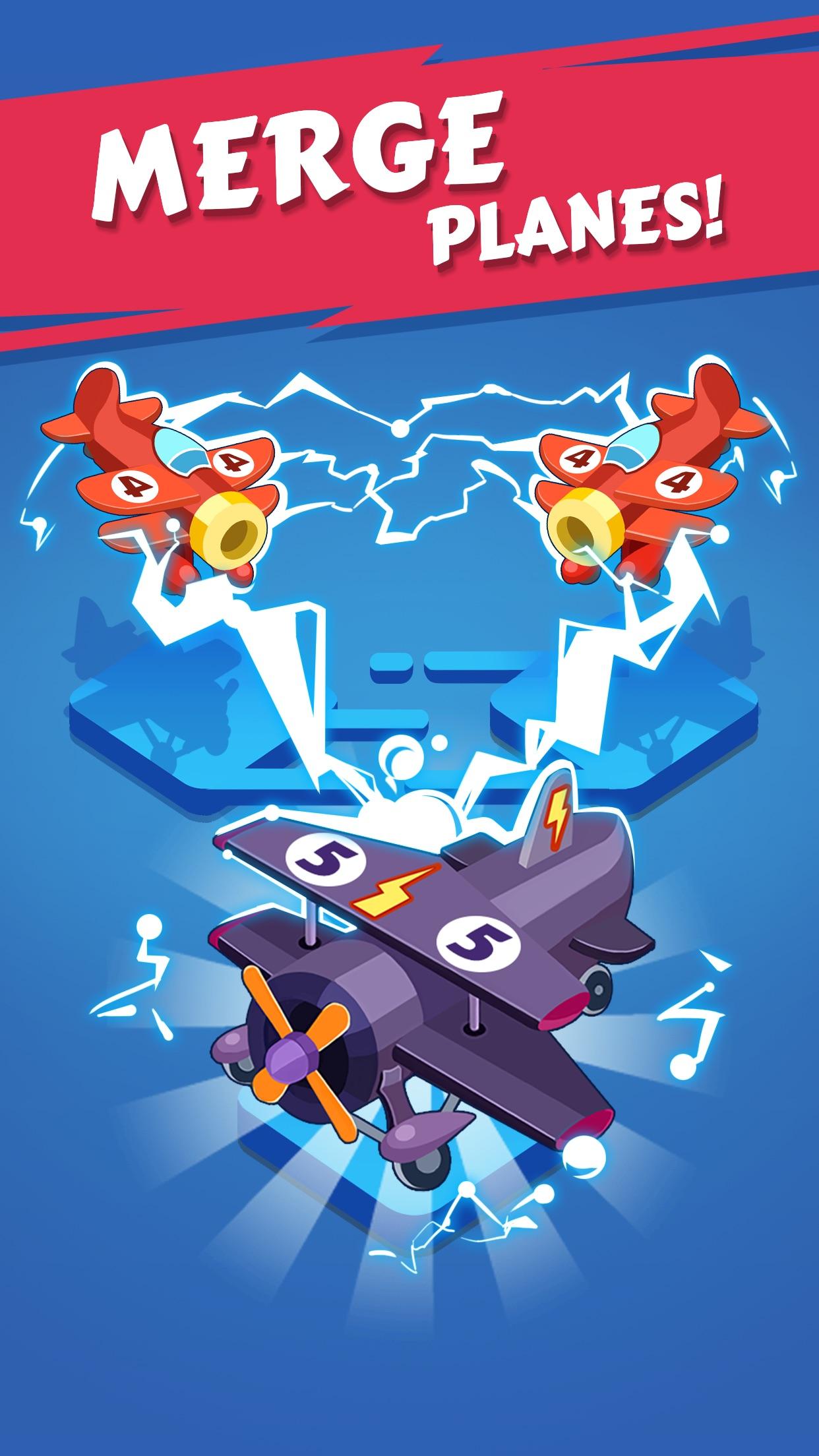 Merge Plane - Best Idle Game Screenshot