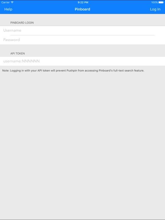 Pushpin for Pinboard Screenshots