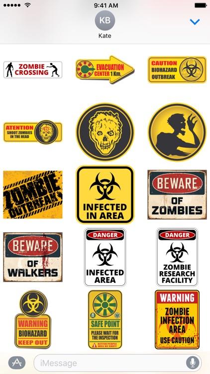 Zombie Sticker Pack