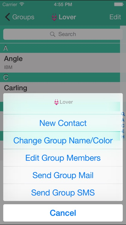 Contacts Grouping