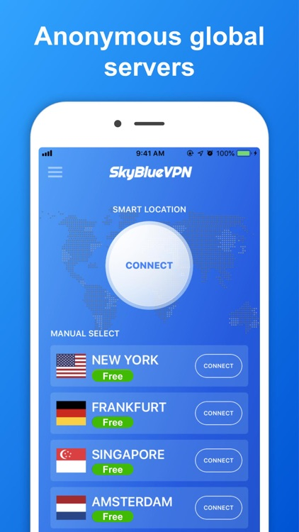 SkyBlueVPN: VPN Fast & Secure screenshot-3